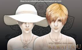 sims 4 hair cc 3kan4on the sims4 male female hair kewai dou
