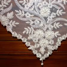 Table Cloths For Sale Handmade Square Pearls And Lace Tablecloth Sequins Beads Vintage