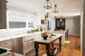 narrow kitchen island kitchen traditional with recessed lighting