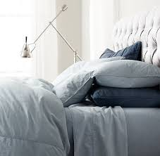 Chambray Duvet Cover Queen Vintage Washed Chambray Sheet Set From Restoration Hardware Mine