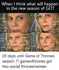 Game Of Thrones Season 3 Meme - when i think what will happen in the new season of got 30皸 45 60