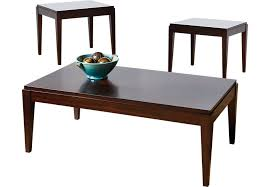 table sets for living room lansing cherry 3 pc table set table sets dark wood