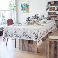 nice moroccan tablecloth natural linen tablecloth black modern