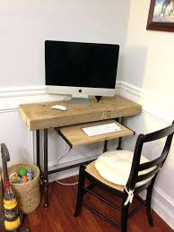 Small Wood Computer Desk With Drawers Small Wooden Computer Desk Tiny Clock Goldenrod Wooden