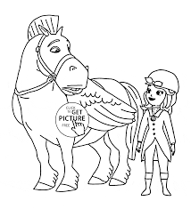 minimus and sofia the first coloring page for kids disney for