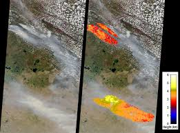 Alberta Wildfire System by Space Images Large Smoke Plumes From Alberta Canada Fires