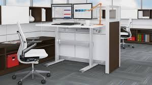 Cubicle Standing Desk Series 7 Electric Adjustable Tables Steelcase