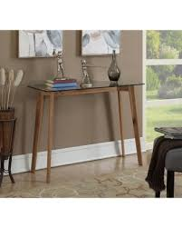 convenience concepts savannah console table amazing deal on convenience concepts clearview console table 111699