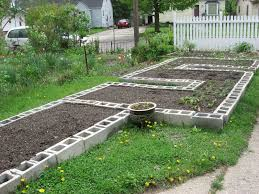 concrete block raised garden bed design gardening ideas