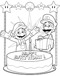 happy birthday coloring card coloring pages for 4 year olds bros happy birthday free card