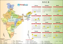 year 2016 calendar holidays in india in 2016