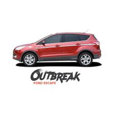 Ford Escape 2015 - ford escape outbreak body line vinyl graphics decal stripe kit for