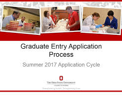 how to apply to the graduate entry option college of nursing