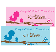 baby shower banners baby bird theme banner