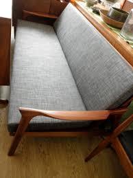 danish deluxe inga daybed re upholstered in dark grey circa 1962