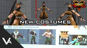 street fighter v new nostalgic costumes thailand classic stage