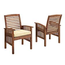 Patio Chair Set Of 2 by White Outdoor Dining Chairs Patio Chairs The Home Depot
