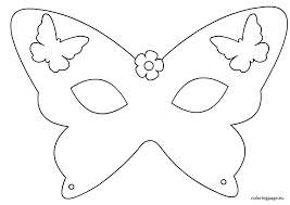 Mask Template by Butterfly Mask Template Coloring Page
