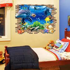 dolphin home decor aliexpress com buy dolphin 3d sea ocean vinyl decal kid room