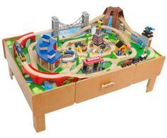thomas the train wooden track table configuration with tidmouth shed and roundtable no water tower