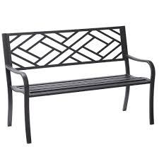 Metal Garden Furniture Dorian Black Velvet Bench Picture On Astonishing Metal Garden