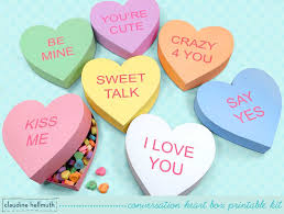 heart candy make a conversation heart candy and favor box s