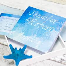 starfish folded summer wedding invitation ewri029 as low as