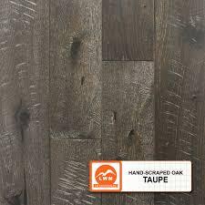 Hand Scraped Oak Laminate Flooring Hand Scraped Oak Taupe Lw Mountain Inc