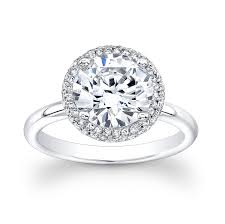 circle engagement ring 18kt white gold diamond halo engagement ring with 2 00