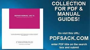 repair manual 1kz te video dailymotion