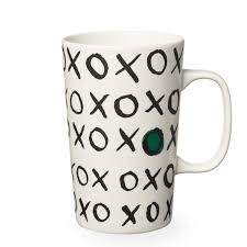 Design Mugs a ceramic coffee mug with an xoxo pattern design part of the