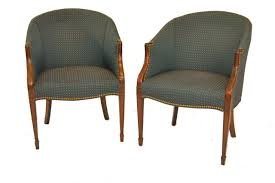Tub Chairs Pair Of Green Tub Chairs By Kittinger Furniture Leffler U0027s Antiques