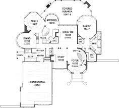 2 Floor House Plans Hennessey Luxury Home Blueprints Spacious House Plans