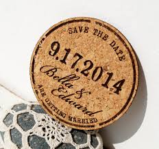rustic wedding save the dates cork save the date cards