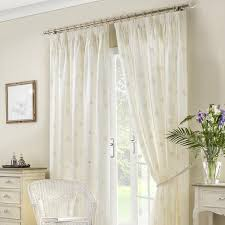 Seville Curtains Seville Lined Voile Curtains In Ivory Uk Delivery Terrys Fabrics