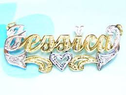 14k gold name plates 14k gold silver 925 name plate chain necklace ebay