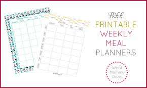 menu planners templates free printable weekly meal planning templates and a week s worth