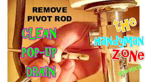 Sink Stopper Bathroom Remove U0026 Clean Sink Pop Up Drain Youtube