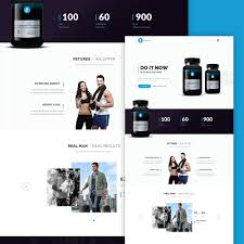product layout bootstrap supplement product landing page free psd download download psd