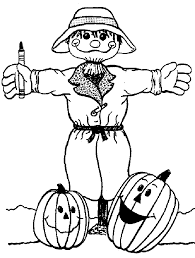 scarecrow color pages kids coloring