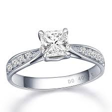 Princess Wedding Rings by Gia Certified Diamond Wedding Ring 0 50 Carat Princess Cut Diamond