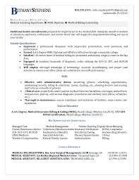 medical billing resume permalink to entry level medical billing