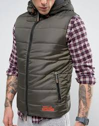 superdry jackets for winter superdry padded gilet dark army men