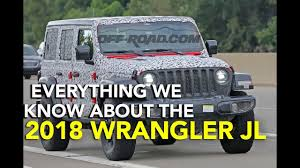 jl jeep diesel everything we know about the 2018 jeep wrangler jl youtube