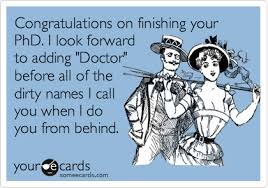 phd congratulations card congratulations on finishing your phd i look forward to adding