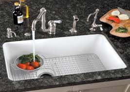 Fabulous White Porcelain Undermount Kitchen Sink Single Basin Cast - Best undermount kitchen sinks