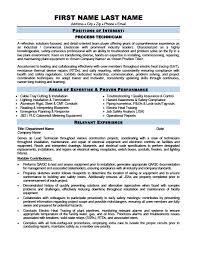 Electronic Technician Resume Sample Process Technician Resume Template Premium Resume Samples U0026 Example