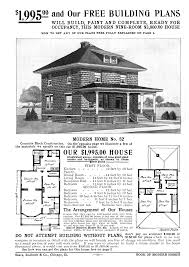 Free Building Plans by An Advertisement For A Foursquare House 1918 Foursquare Duplex