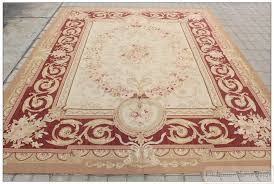 Antique Area Rug 8 X10 Aubusson Castle Area Rug Rust Antique Pink Wool