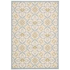 Yellow Indoor Outdoor Rug Nourison Caribbean Ivory Blue 9 Ft 3 In X 12 Ft 9 In Indoor